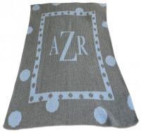 Cashmere Stroller Blanket   Large Dot