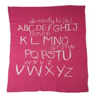 Personalized Crib Blanket - Pink ABC Blanket