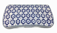 Baby Wipe Case in Blue Aztec Design