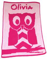 Butterscotch Blankee Cashmere Owl Crib Blanket