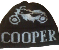 Vintage motorcycle kids hat