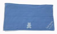 name on baby blue blanket
