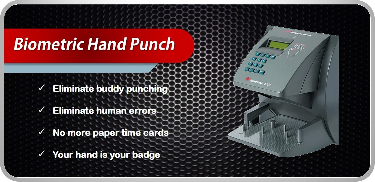 Hand Punch Time Clock for your Time and Attendance System
