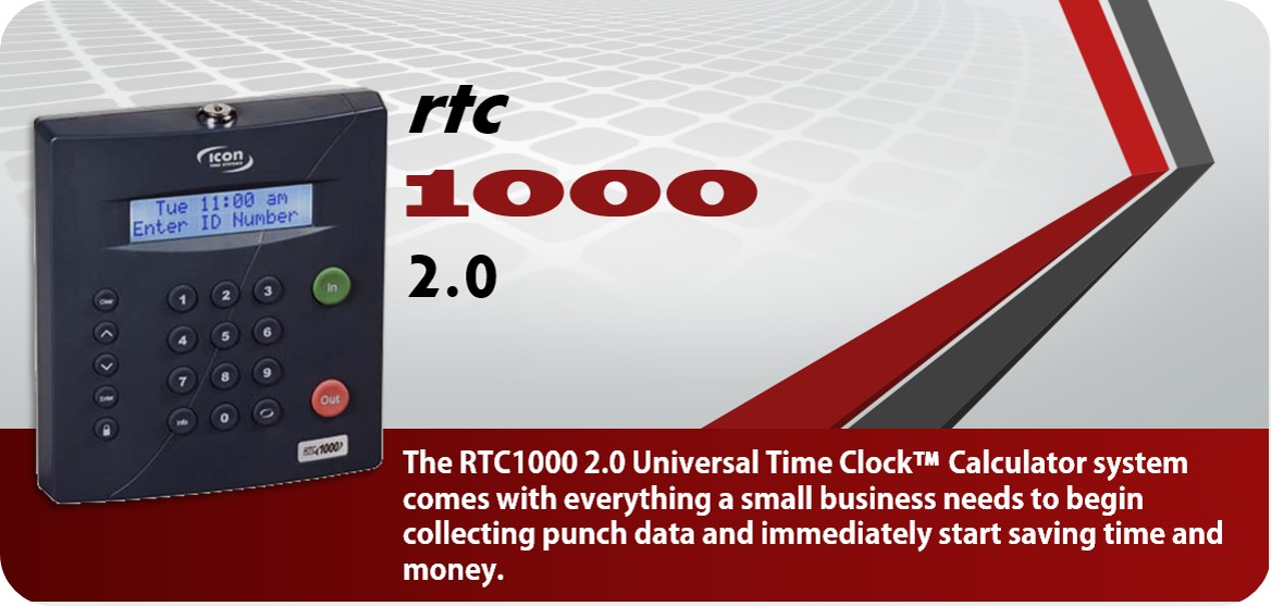 Icon Time RTC 1000 Time Clock System Package for only $379