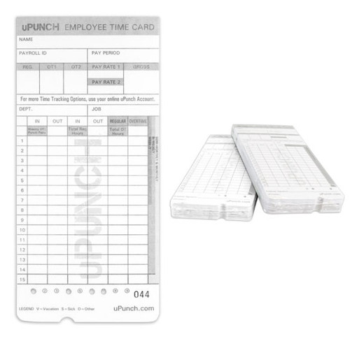 uPunch HN4000 Time Card