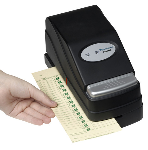 Acroprint PD100 Time Stamp with time card