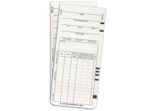 Amano MRX-35 Time Cards