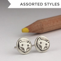 Tiny S + B Studs - Single Metal
