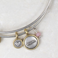 Mom + Heart Bangle