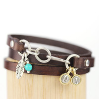"""Choose a charm"" + Teeny Letters Wrap Bracelet"