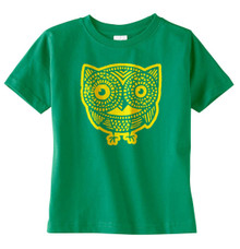 Owl T-Shirt in Kelly Green