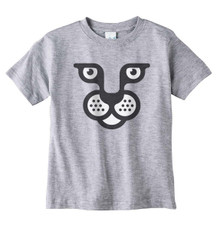 Wild Cat Face on Heather T-Shirt