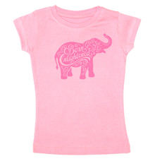 Born Enlightened Elephant T-Shirt in Pink for Girls