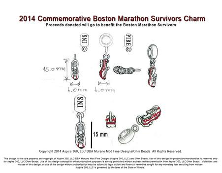 2014 Commemorative Boston Survivors Charm Design Sketch