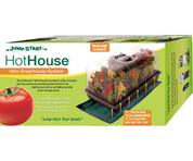 "Hot House w/ Heat Mat, tray, 72 cell insert, 7.5"" dome"