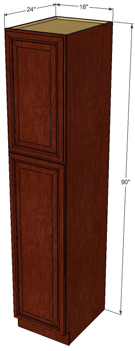 Brandywine maple pantry cabinet unit 18 inch wide x 90 for Brandywine kitchen cabinets