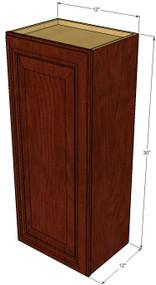 Small Single Door Brandywine Maple Wall Cabinet - 12 Inch Wide x 30 Inch High