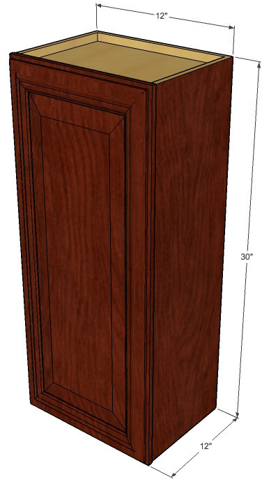 small single door brandywine maple wall cabinet 12 inch wide x 30 inch high kitchen cabinet. Black Bedroom Furniture Sets. Home Design Ideas