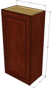 Small Single Door Brandywine Maple Wall Cabinet - 21 Inch Wide x 36 Inch High