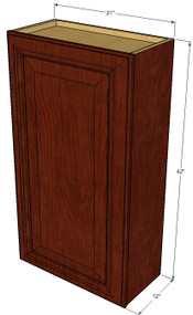 Small Single Door Brandywine Maple Wall Cabinet - 21 Inch Wide x 42 Inch High
