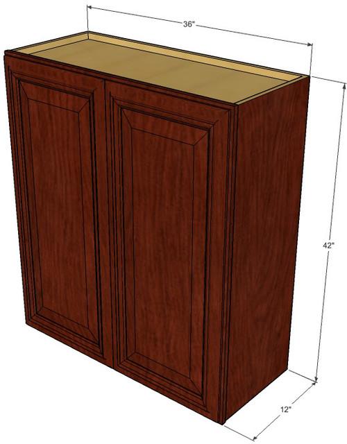 Large Double Door Brandywine Maple Wall Cabinet - 36 Inch ...