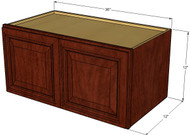 Brandywine Maple Horizontal Overhead Wall Cabinet - 36 Inch Wide x 12 Inch High