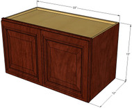 Brandywine Maple Horizontal Overhead Wall Cabinet - 33 Inch Wide x 15 Inch High