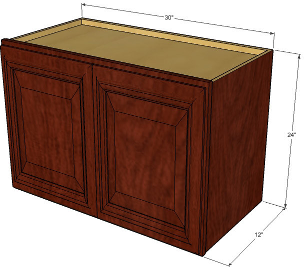 Brandywine maple horizontal overhead wall cabinet 30 for 24 inch wide kitchen cabinets