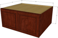 Brandywine Maple Horizontal Fridge Wall Cabinet - 36 Inch Wide x 15 Inch High x 24 Inch Deep