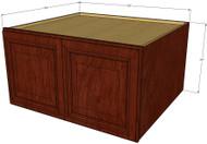 Brandywine Maple Horizontal Fridge Wall Cabinet - 33 Inch Wide x 24 Inch High x 24 Inch Deep
