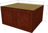 Brandywine Maple Horizontal Fridge Wall Cabinet - 36 Inch Wide x 24 Inch High x 24 Inch Deep