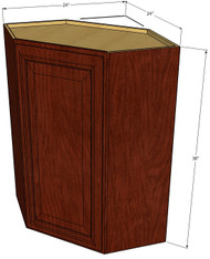 Brandywine Maple Diagonal Corner Wall Cabinet - 24 Inch Wide x 36 Inch High