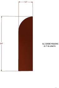 Brandywine Maple Scribe Molding