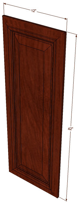 Brandywine maple decorative door 12 inch wide x 42 inch for Kitchen cabinets 42 inches high