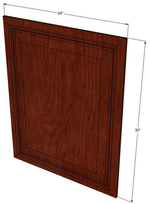 Brandywine maple base decorative door 24 inch wide x 30 for 24 inch wide kitchen cabinets