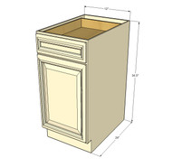 Tuscany White Maple Small Base Cabinet with 12 Inch Door & Drawer