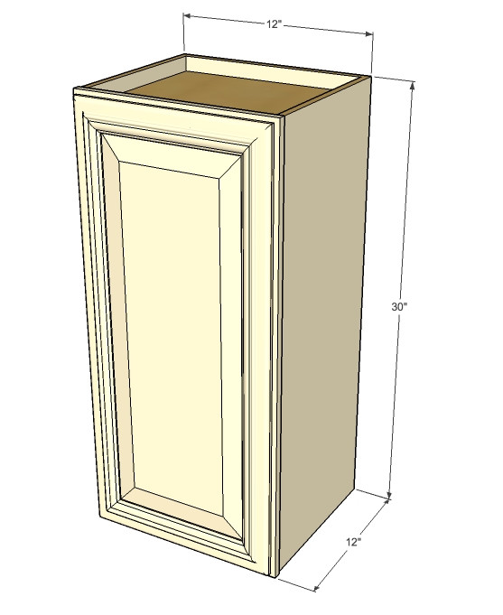 small single door tuscany white maple wall cabinet 12 inch wide x 30 inch high kitchen. Black Bedroom Furniture Sets. Home Design Ideas