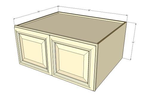 Tuscany White Maple Horizontal Fridge Wall Cabinet - 36 Inch Wide ...