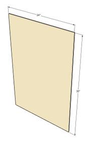 Tuscany White Maple Base End Panel
