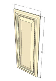 Tuscany White Maple Decorative Door - 12 Inch Wide x 36 Inch High