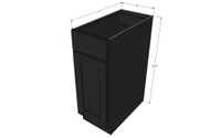 Island Java Shaker Small Base Cabinet with 12 Inch Door & Drawer