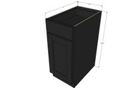 Island Java Shaker Small Base Cabinet with 15 Inch Door & Drawer