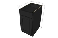 Island Java Shaker Small Base Cabinet with 21 Inch Door & Drawer