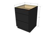 Island Java Shaker 3 Drawer Base Cabinet 21 Inch