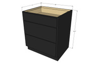 Island Java Shaker 3 Drawer Base Cabinet 30 Inch