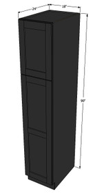 Island Java Shaker Pantry Cabinet Unit 18 Inch Wide x 90 Inch High