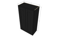 Large Double Door Island Java Shaker Wall Cabinet - 24 Inch Wide x 42 Inch High