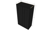 Large Double Door Island Java Shaker Wall Cabinet - 27 Inch Wide x 42 Inch High
