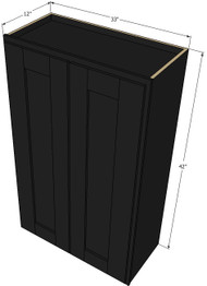 Large Double Door Island Java Shaker Wall Cabinet - 33 Inch Wide x 42 Inch High