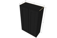 Large Double Door Island Java Shaker Wall Cabinet - 36 Inch Wide x 42 Inch High